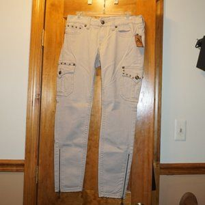 Antique Rivet Khaki Jeans